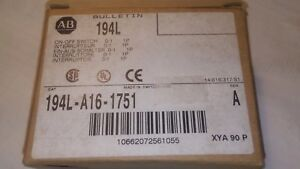 New In Box 194l a16 1751 Ser A On off Switch