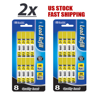 Lot Of 2 Refill Lead Hb 0 9mm 60mm Mechanical Pencil Lead 160 Leads Per Pack