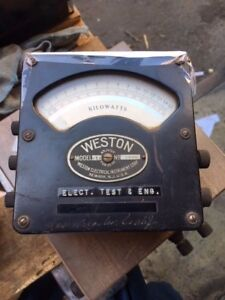 Vintage Weston Model 432 Kilowatt Meter Used