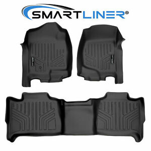 Smartliner Custom Fit Floor Mats Set Black For Tahoe yukon suburban yukon Xl