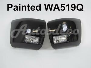 Painted Wa519q Front Bumper End Cap Fog Light 4pcs For 2008 2010 Silverado 1500