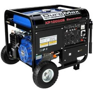 New Duromax Gas Generator W electric Start Wheel Kit 10 000w 16 0hp