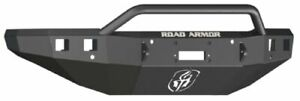 Road Armor 315r4b Front Black Pre Runner Guard Winch Bumper For Silverado 2500