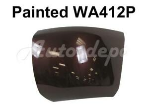 Painted Wa412p Front Bumper End Cap Lh For 2008 13 Chevy Silverado 1500 W o Hole