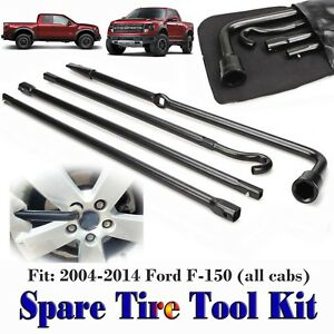 Spare Tire Wheel Repair Tool Replacement Kit W Bag For 2004 2014 Ford F 150 Oem