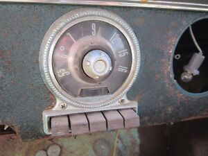 55 Ford Fairlane Car Trim Face Plate For The Radio 1955