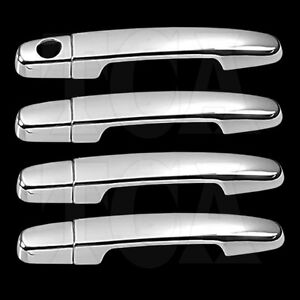 For Toyota Yaris 2007 2011 Chrome 4 Door Handle Covers W Opsk 07 08 2009 2010 11