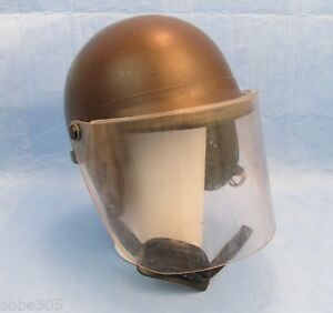 Premier Crown Corp Model C 3 906 Riot Helmet W Face Shield Brown Medium