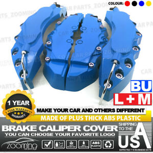 4x Brake Caliper Covers Universal Car Style Disc Blue Front Rear Kits L m Lw04