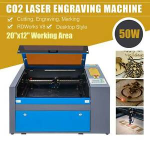Professional 40w Co2 Laser Engraver 12 x 8 W Exhaust Fan Usb Port