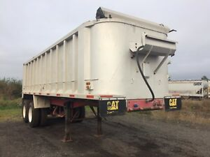 White 26 Heavy Duty Dump Trailer Ready To Work New Tires All Around