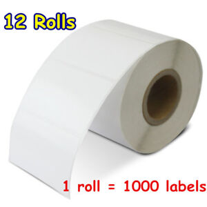 12 Rolls 2 25 x1 25 Direct Thermal Price Barcode Labels 1000 roll Zebra Lp2844