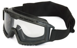 Uvex Xmf Tactical Goggle With Black Frame And Clear Ds Lens