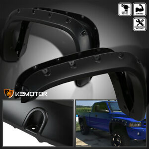 1994 2001 Dodge Ram 1500 2500 3500 Pocket Rivet Style Smooth Wheel Fender Flares