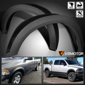 For 2009 2018 Dodge Ram 1500 Factory Style Bolt On Fender Flares Textured Smooth