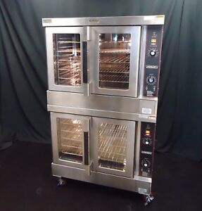 Vulcan Hobart Gas Commercial Full Size Double Stacked Convection Oven Hgc 502