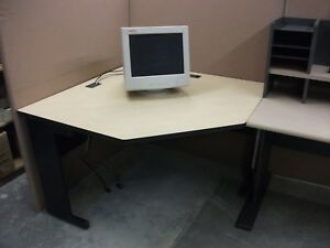 Corner Desk To Fit Office Cubicle Used Office Furniture