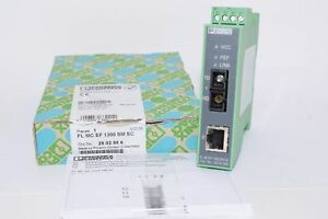 New Phoenix Contact 2902856 Fiber Optic Transmitter Fl mc ef 1300 sm sc Recieve