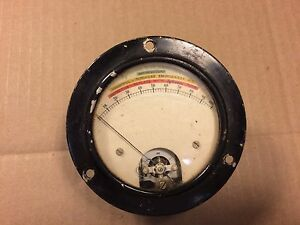 Vintage Sylvania Tube Analyzer Meter For Tube Tester Very Old Jewell Gauge