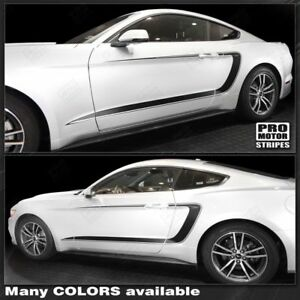 Ford Mustang 2015 2019 Side Accent C stripes Decals choose Color