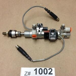 Bimba Em 16 12 n cr Air Cylinder And Smc Floating Joint Pneumatic Gripper