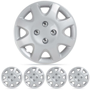 14 4 Pc Replacement Hubcaps Silver Abs Snap On Car Wheel Rim Covers Hub Caps
