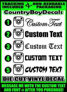 Custom Text Handle 22x4 Vinyl Decal Sticker Car Truck Turbo Boost Lifted Lowered