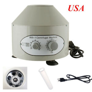 New Electric Centrifuge Machine 4000rpm Lab Medical Practice Variable Speed 110v