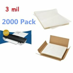 3 Mil Letter Size Clear Thermal Laminating Pouches 9 X 11 5 Sheets 2000 Pack