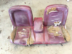 1965 1966 1967 Ford Mustang Coupe Conv Front Bench Seat Rare