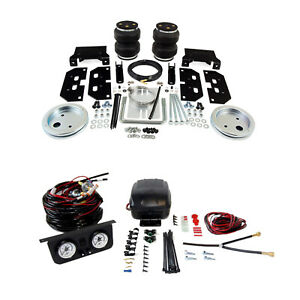 Air Lift Control Air Spring W Dual Path Leveling Kit For Dodge Ram 2500 3500 4wd