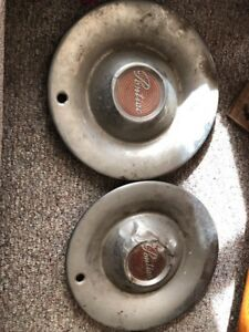 Vintage Pontiac Hub Cap Original 15 Inches Two Hub Caps As Is Needs Dent Removed