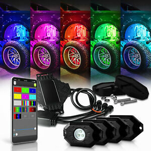 White Rock Lights Led Pods For Trucks Jeeps Offroad Vehicles With Remote Control