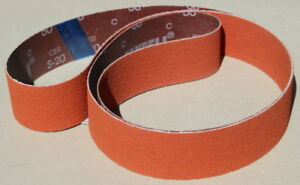 2 X 48 Orange Ceramic sanding Belts Long Life 40 Grit 6 Pack