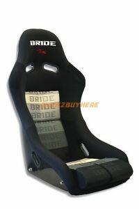 Bride Vios Black Gradation Frp Honda Pair Racing Seat Long Side Mounts Sliders