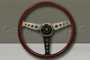 Nardi Nd36 Steering Wheel 360mm Wood Polished Spokes Anni 60 Horn Button