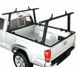 Universal Aluminum 800lb Pickup Truck Ladder Rack Black Contractor Cargo Utility