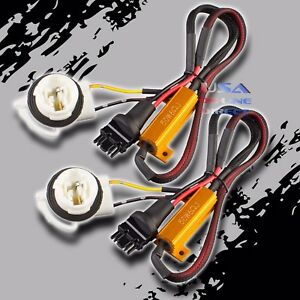 2pc Canbus Error Free Load Resistor Led Hyper Flash Delete Harness 3156 3157 Usa