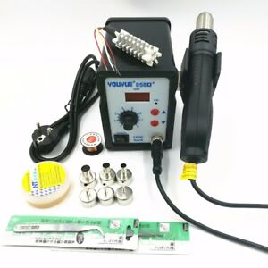 Hot Air Gun 700w 858d Esd Soldering Station 6 Air Nozzles Heating Core
