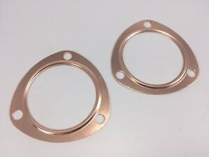Pair 2 3 Reusable Copper Header Collector Exhaust Replacement Gaskets