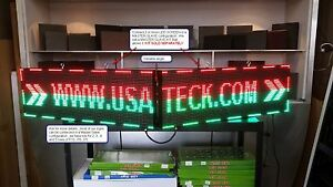 2 Full Color Led Sign 37 X 13 Outdoor Programmable master slave Usa