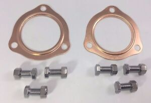 2 1 2 Copper Header Exhaust Collector Gaskets Bolt Kit Reusable