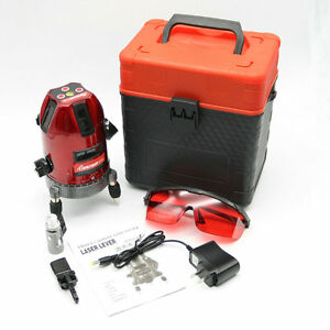 5 Line 6 Point 360 Vertical Horizontal Rotary Cross Laser Level Line Tool