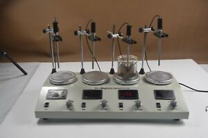 Free Shipping 4 Heads Magnetic Heating Stirrer With Hotplate 1000ml Lab Mixer