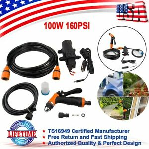 Portable 12v 100w 160psi High Pressure Water Gun Electric Car Washer Wash Pump