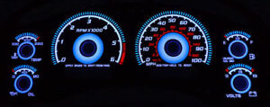 Blue Glow 98 04 Chevy S10 Truck Blazer With Tach Gauge Face Overlay New S 10