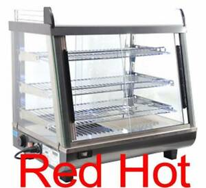 Omcan 40003 Dw cn 0096 Commercial 26 Hot Food Warmer Glass Display Case