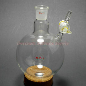500ml 24 40 Lab Reaction Glass Flask With stopcock New Chemistry Glassware