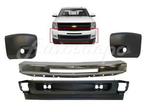 Replacement Chrome Front Bumper Combo For Chevrolet Silverado 1500 2007 2013