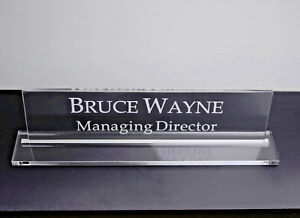 Executive Personalised Desk Name custom Engraved Sign name Plaque office Manager